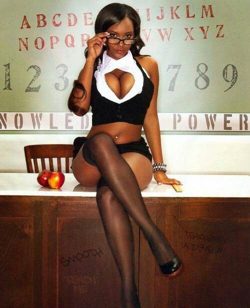 Thick ebony teacher