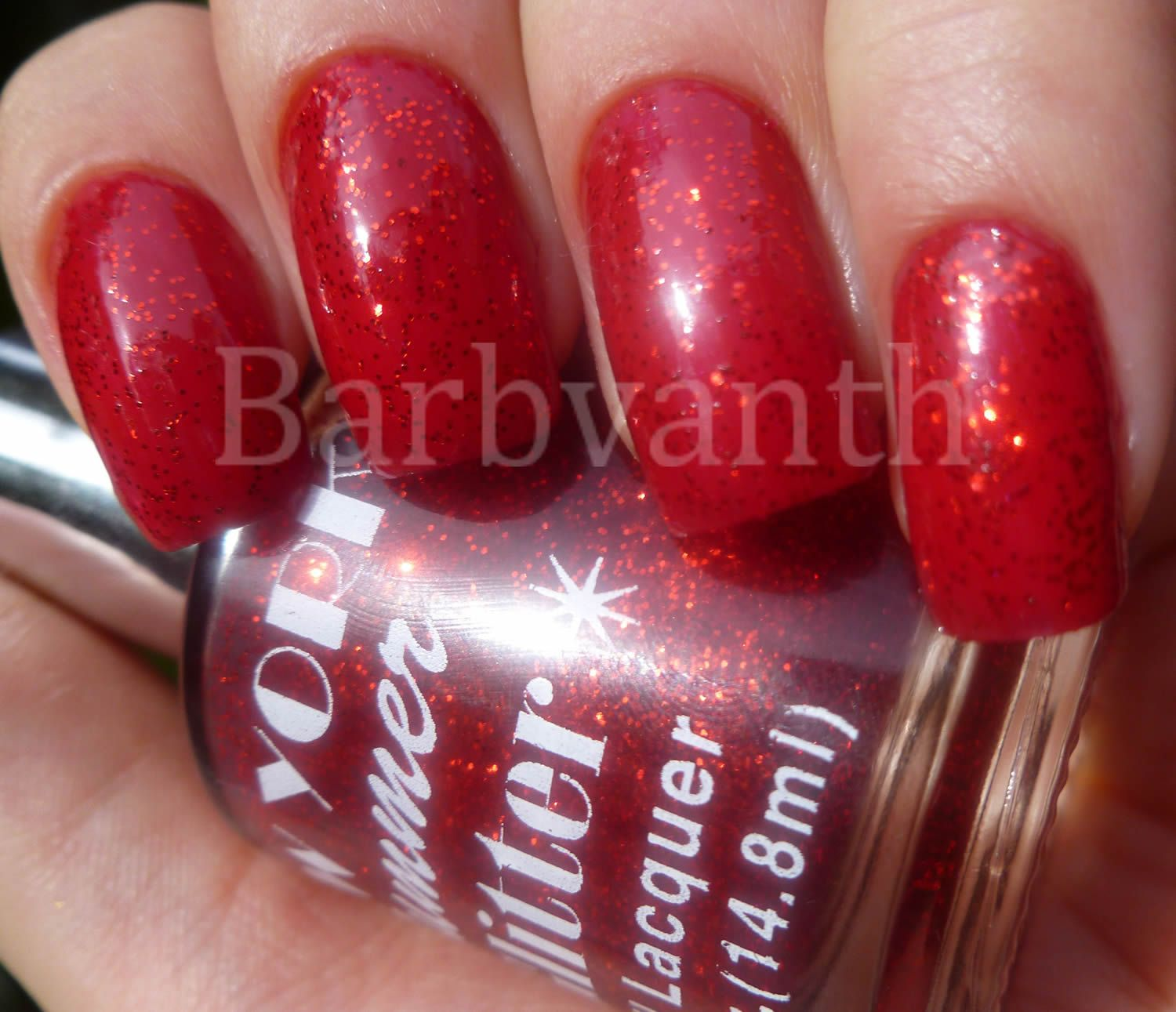 Fire Red Glitter New York Summer | Nail Polish | Pinterest