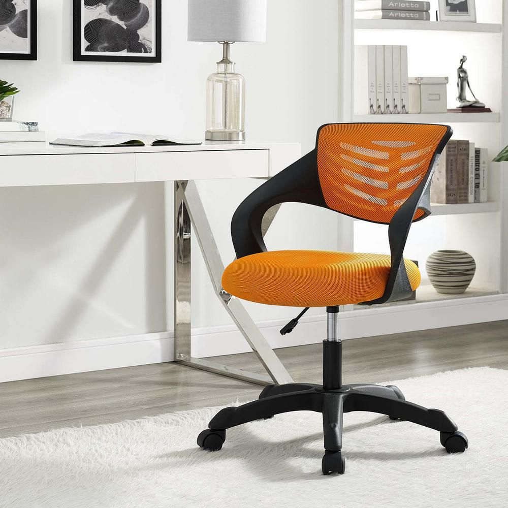orange office furniture small business thrive mesh office chair in orange modway 2018 products