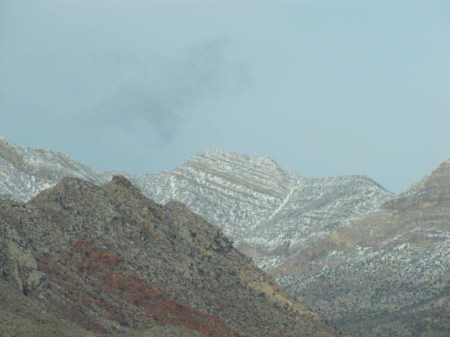 Still snow in them hills
