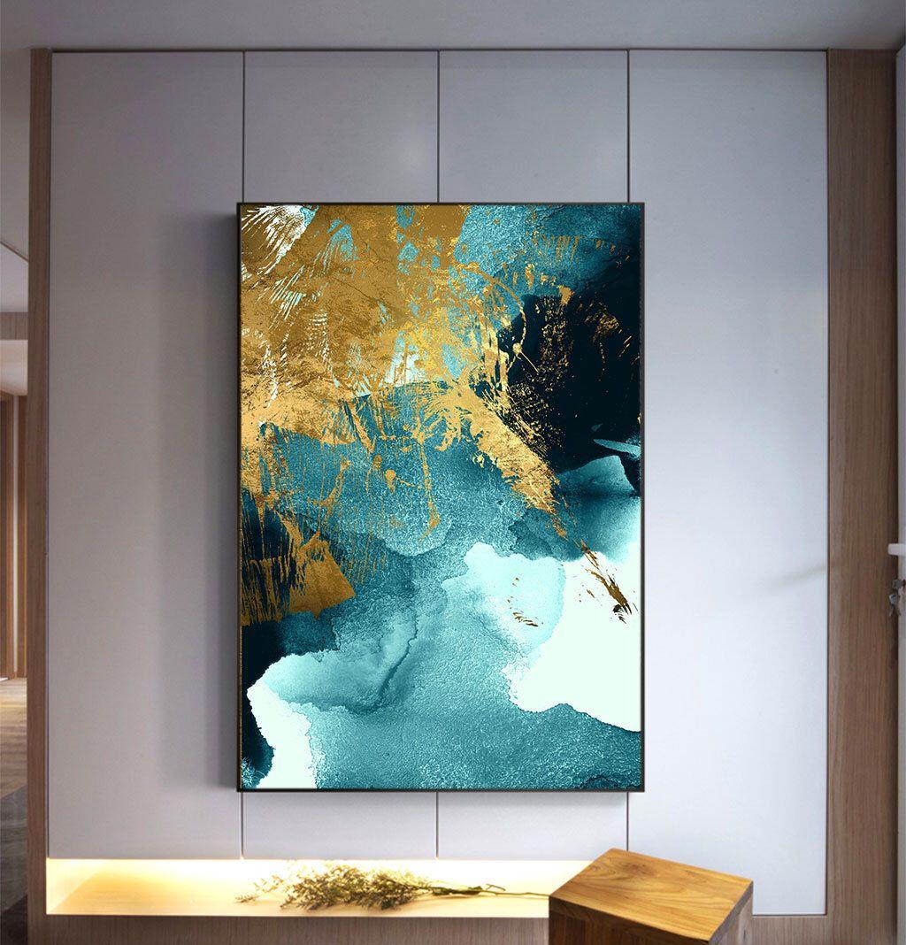 Home decor living room office instant printable indigo wall art