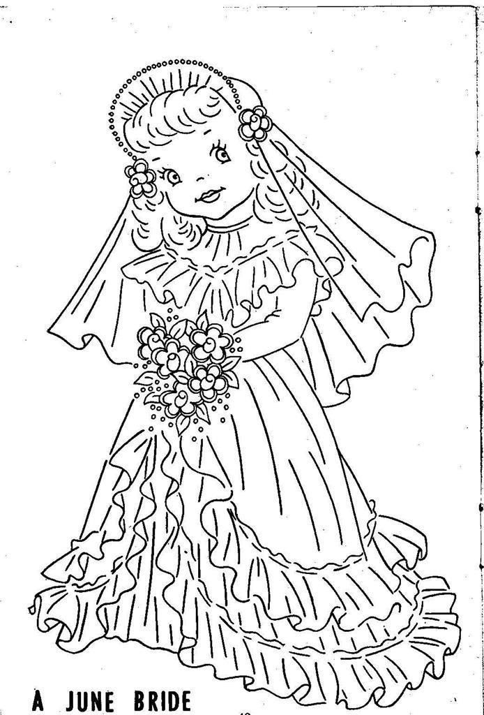 Hand Embroidery Pattern 12 Children Of The Month For Quilt From 1960