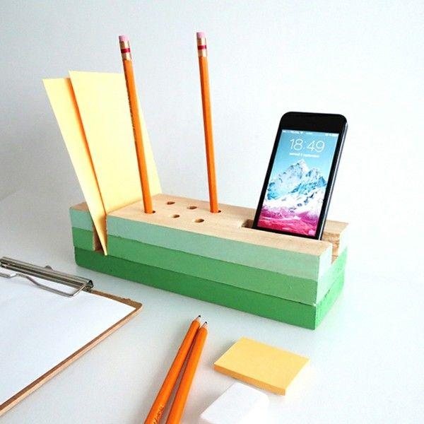 Basteln Mit Holz Stiftehalter Selber Machen