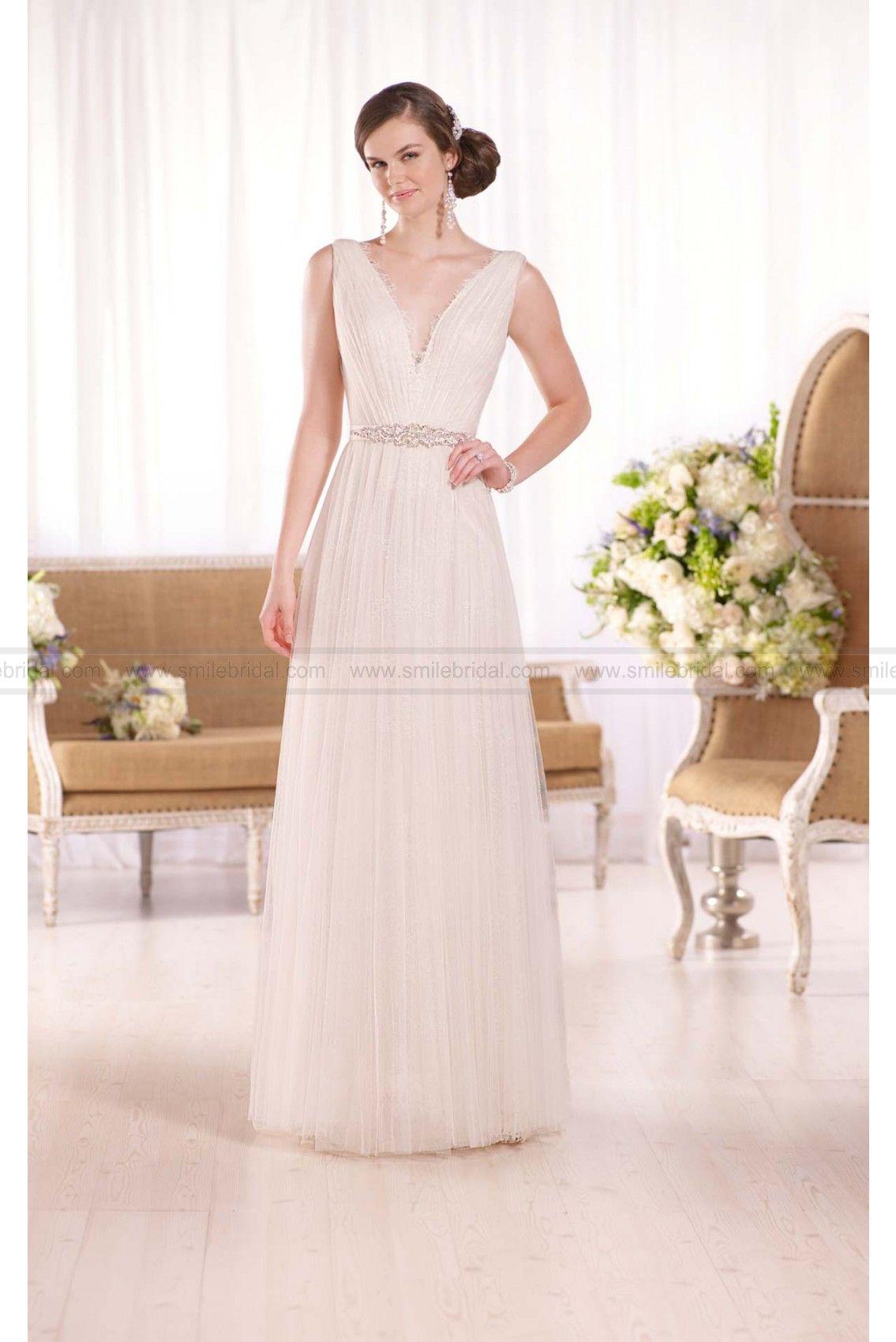 Essense of australia grecianinspired sheath wedding dress style