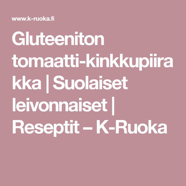 Gluteeniton tomaatti-kinkkupiirakka | Suolaiset leivonnaiset | Reseptit – K-Ruoka