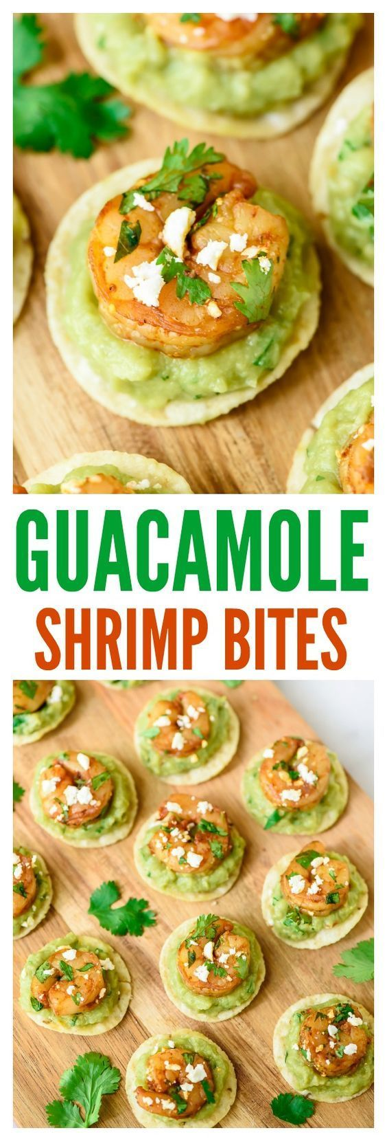 Spicy Guacamole Shrimp Bites. Fast, easy, and SO addictive