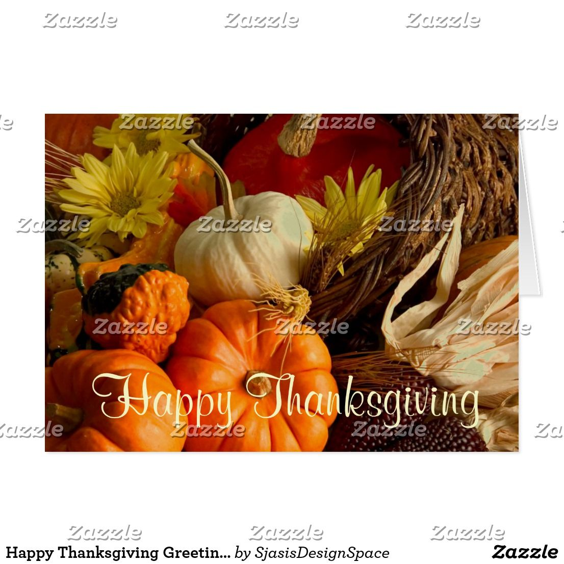 Happy Thanksgiving Greeting Card Custom Thanksgiving Greetings
