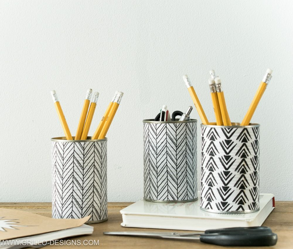 How To Make A Pencil Holder From Empty Tin Cans Moore