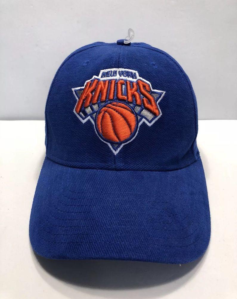 best service 15a38 76502 NBA NY New York Knicks NYK Cap Hat Adult Adjustable Adidas Blue 100% Cotton