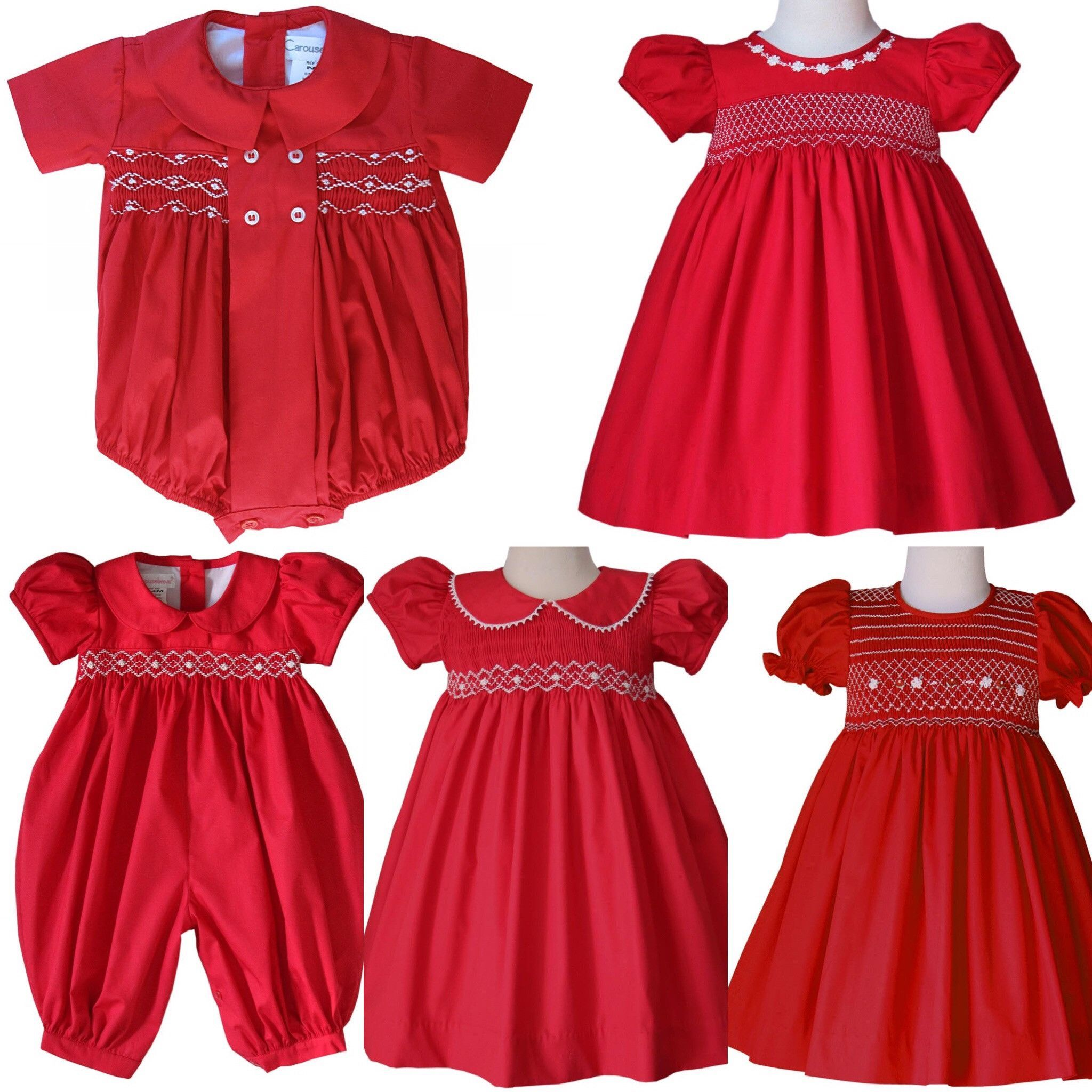 Sofia Baby Girls Smocked Red Valentines Spring Summer Dress