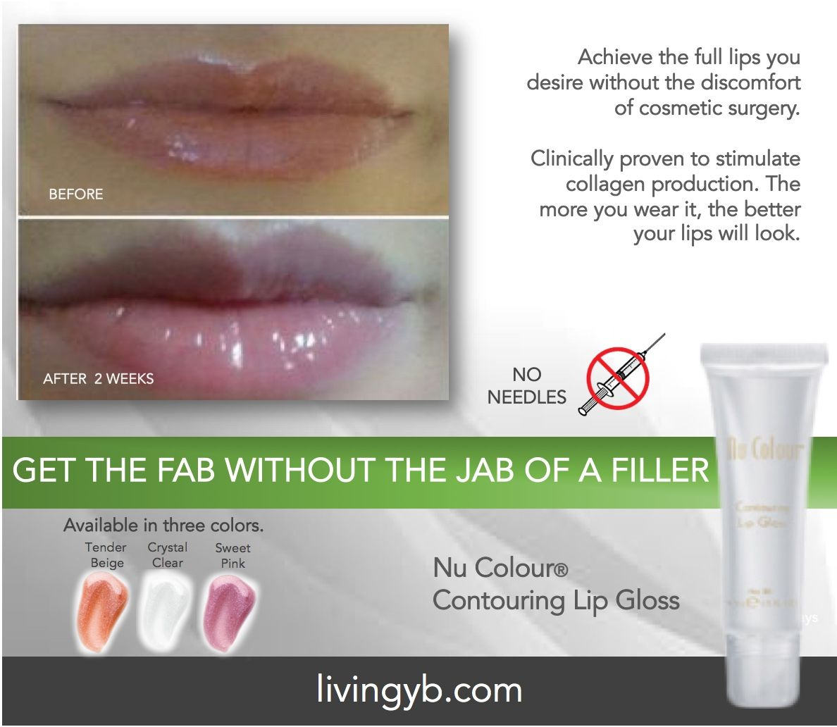 Nu Colour® Contouring Lip Gloss  Get the fab without the jab