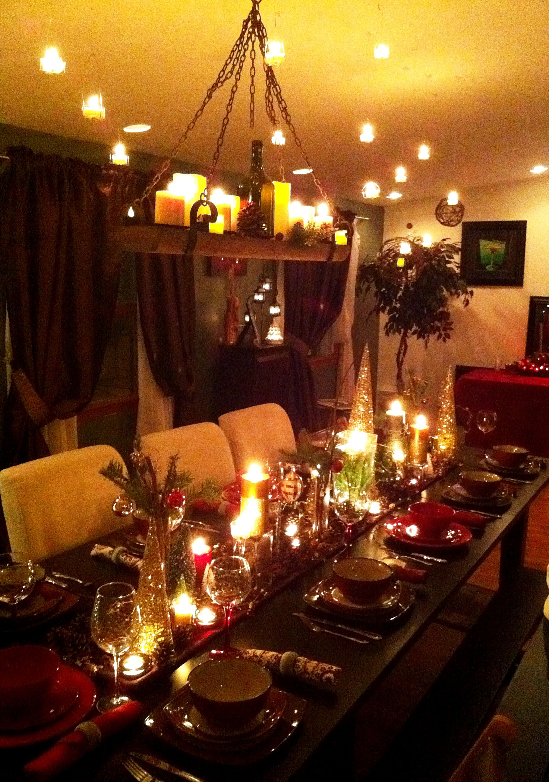 Me And My Boyfriend S Winter X Mas Dinner Party And Of Course Our Ideas Were Inspired Via Pinterest Christmas Dinner Table Winter Dinner Party Dinning Room