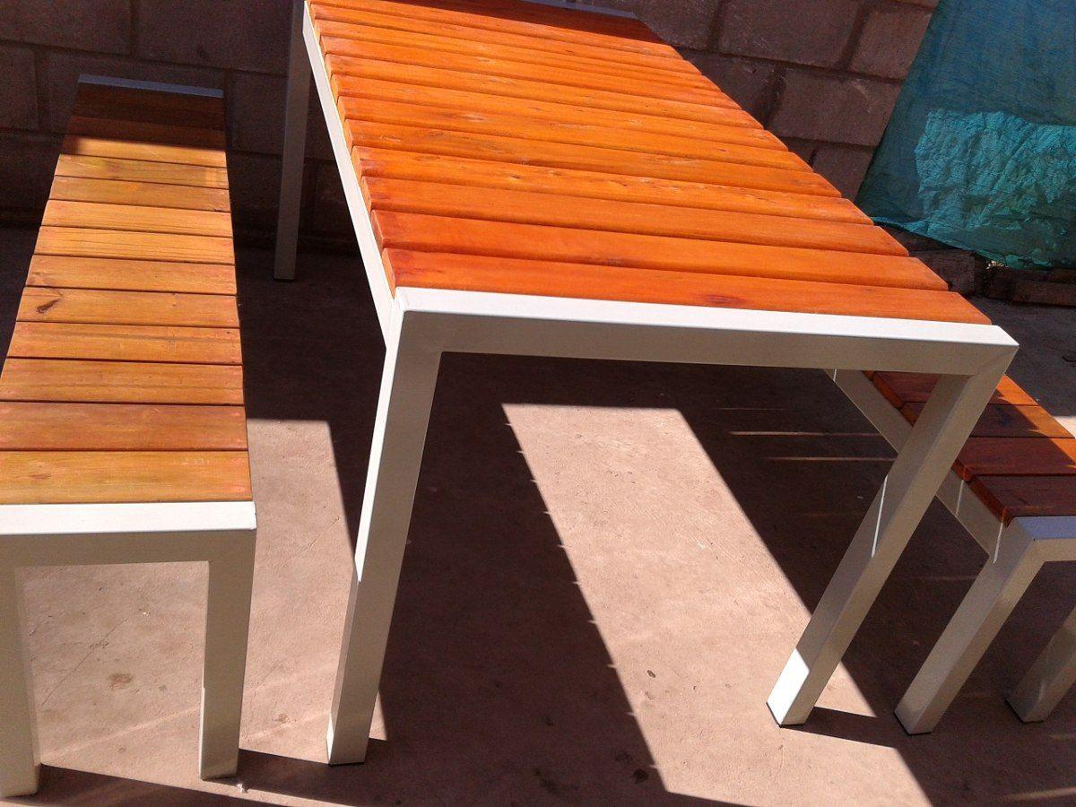 Mesas de madera jardin mesas de madera jardin mesas de for Conjunto de mesa de madera y silla de jardin barato