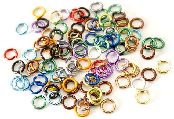 "Jump Rings 18 Gauge 3/16"" 200/Qty per Package ImpressArt Premium Mixed Colors"