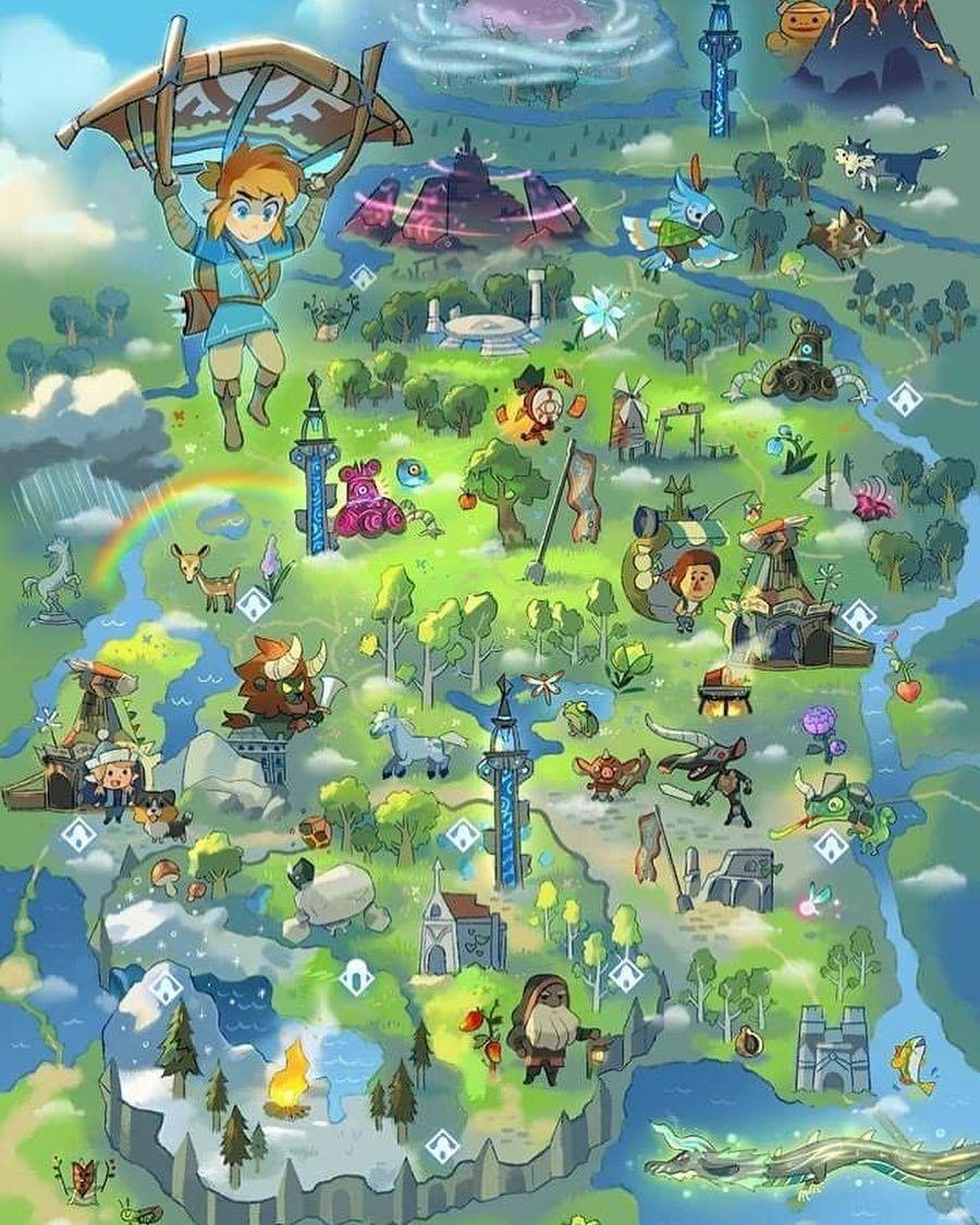 zelda malvorlagen map  tiffanylovesbooks