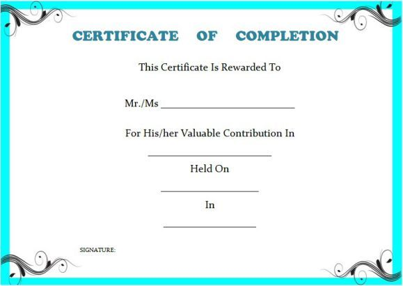 ProjectCompletionCertificateTemplate  Certificate Of