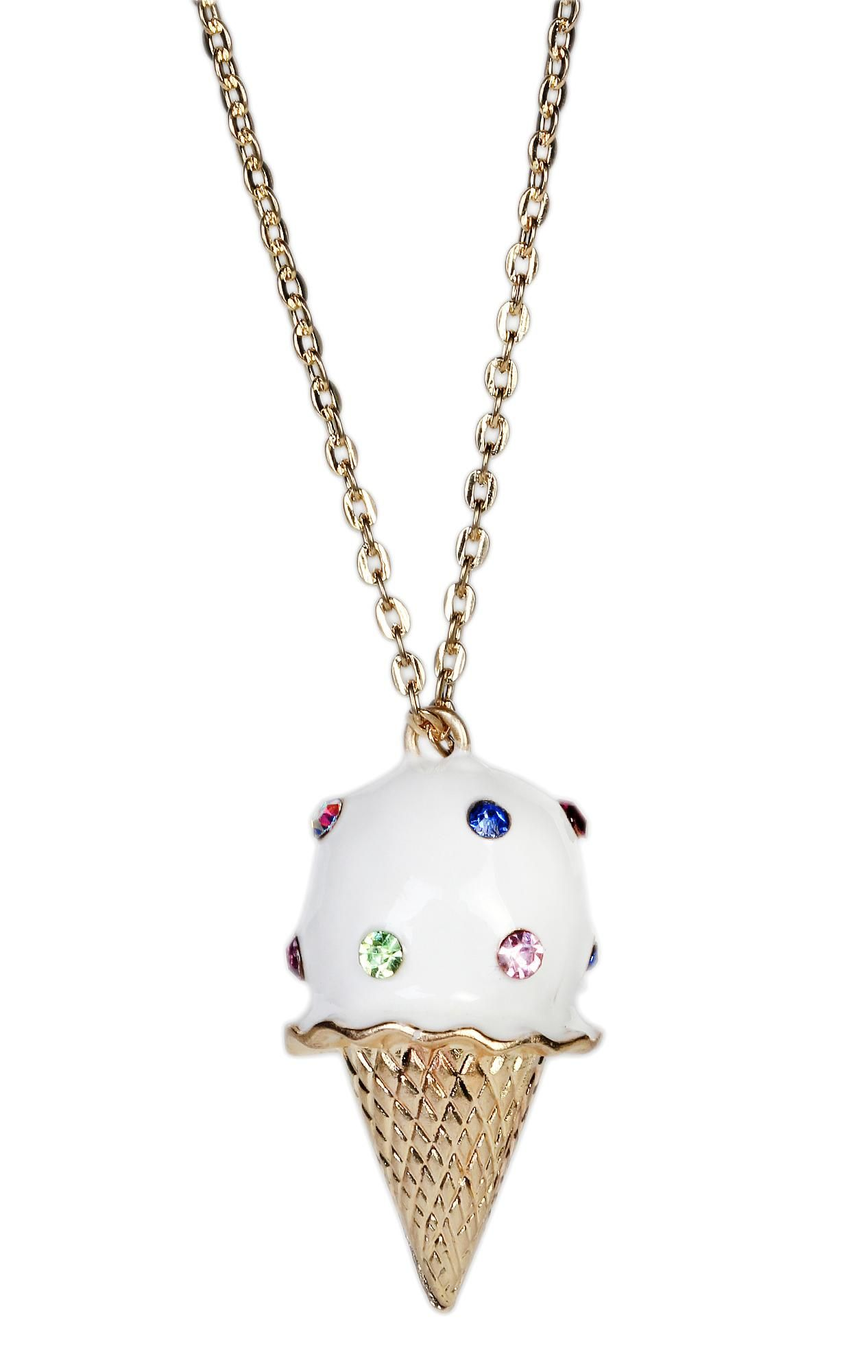 ice cream cone necklace.
