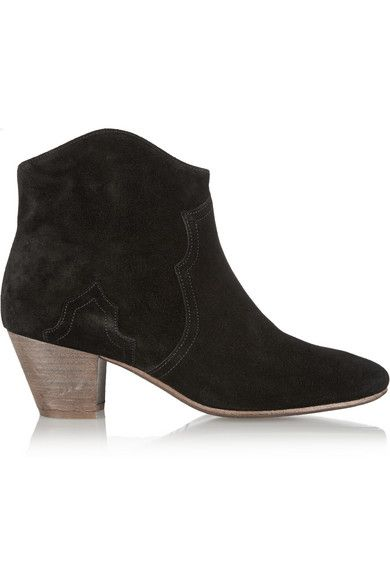 Isabel Marant Dicker Boot | Black Suede