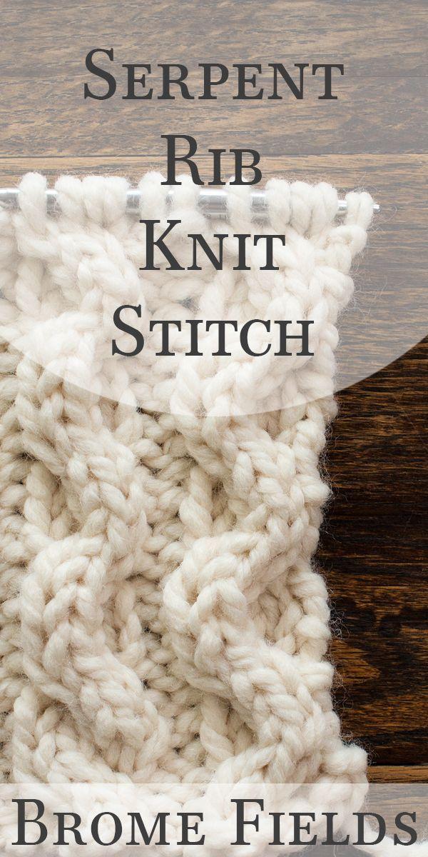 Video: Spider Knit Stitch by Brome Fields | Craftiness | Pinterest ...