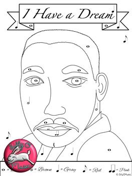 Martin Luther King Day Music Coloring Games and MLK Worksheet