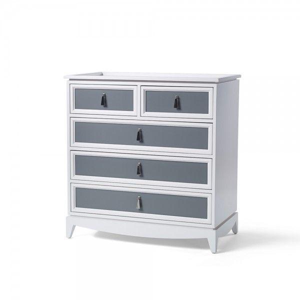 Regency 5 Drawer Dresser 1 Dark Gray A Casegoods Dressers