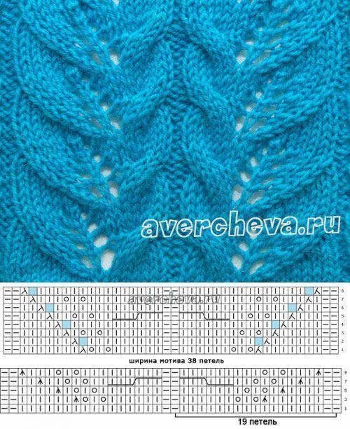 Blattmuster stricken russisch - Knit & Share | antjesworld ...