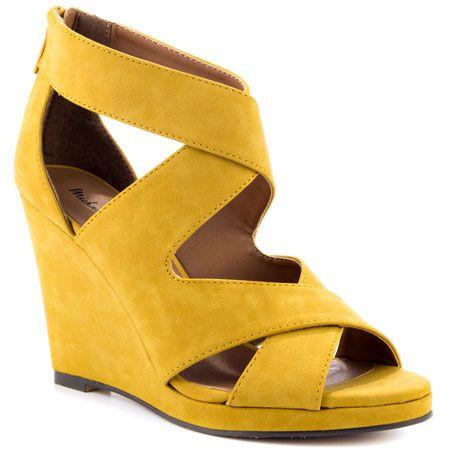 Gracey - Mustard PU - Yvonne's #shoes | Yellow heels ...