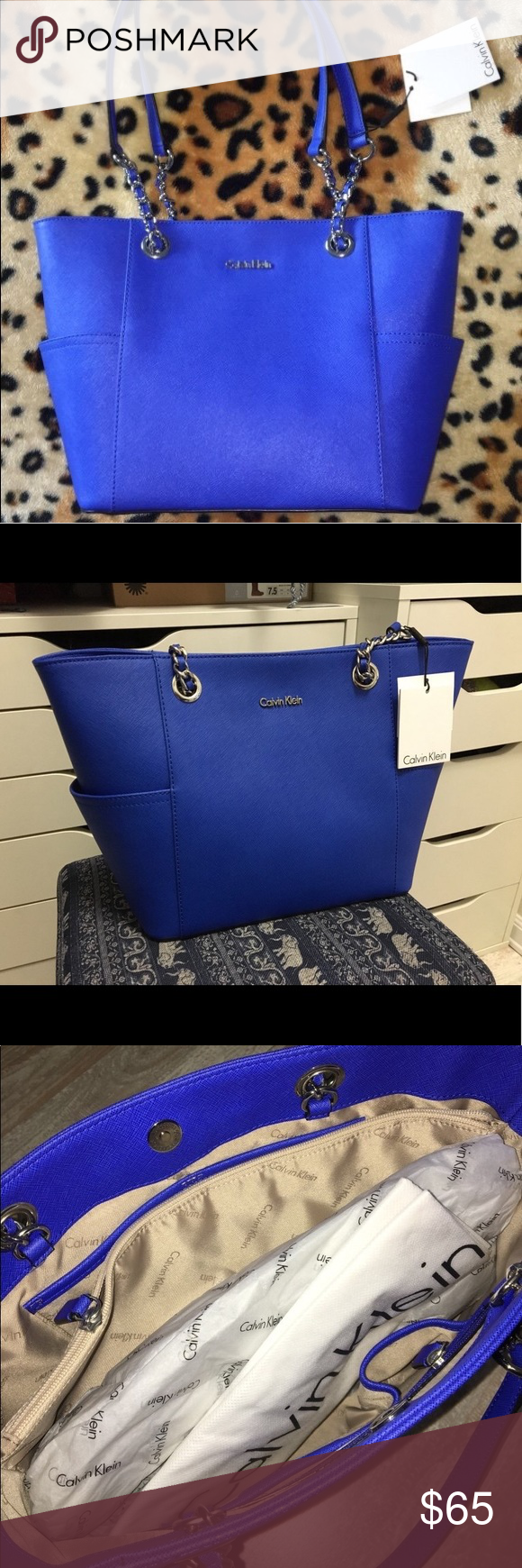 609773145e6b Calvin Klein Blue Hand Bag Original Calvin Klein, never used. Original  price was about $100. Blue hand bag. Calvin Klein Bags