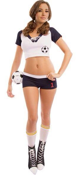 aliexpress soccer sexy costume football sexy halloween soccer costume sexy costumes for - Girls Football Halloween Costume