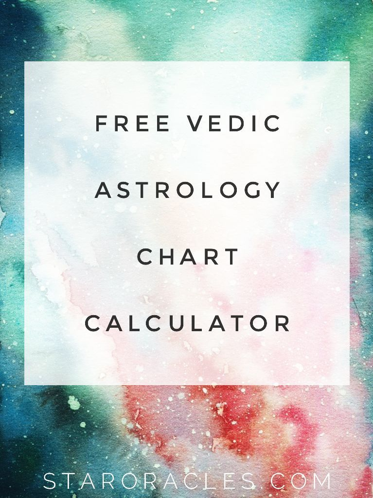 Vedic Astrology Chart Calculator | Astrology | Astrology chart