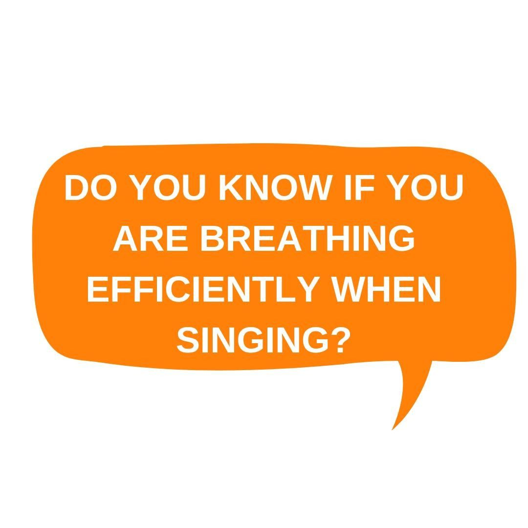 How do you check if you are using your breath efficiently