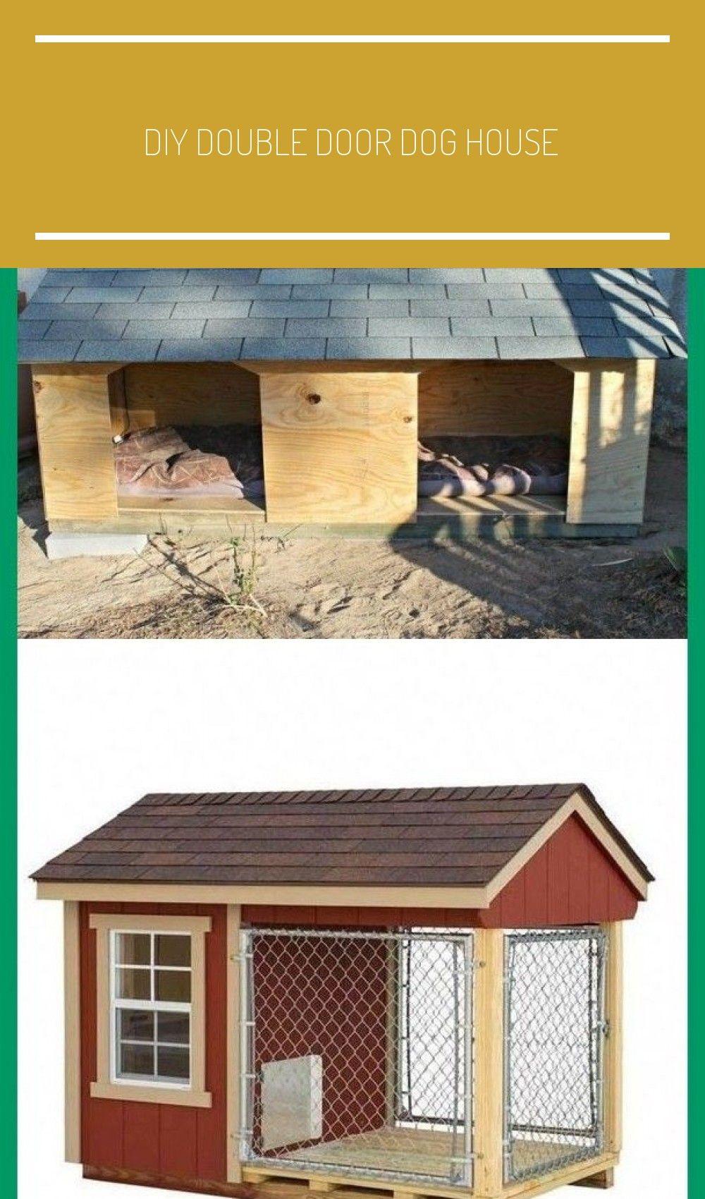 Diy Double Door Dog House In 2020 Double Doors Cheap Dog Kennels Dog Kennel Outdoor