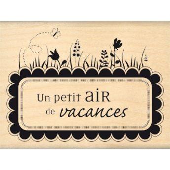Un Petit Air De Vacances Scapbook Tampon Bois Tampon