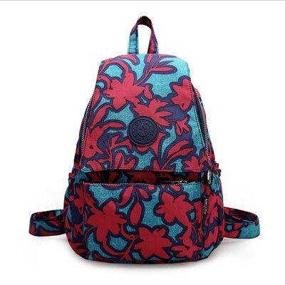 Flower pattern causal backpack