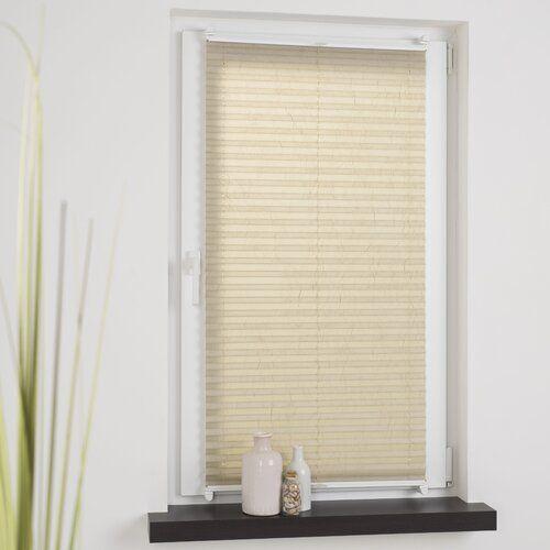 Blackout Pleated Blind Schoner Wohnen Kollektion Colour Beige Size 140cm L X 60cm W Pleated Blind Blinds Appartment Decor