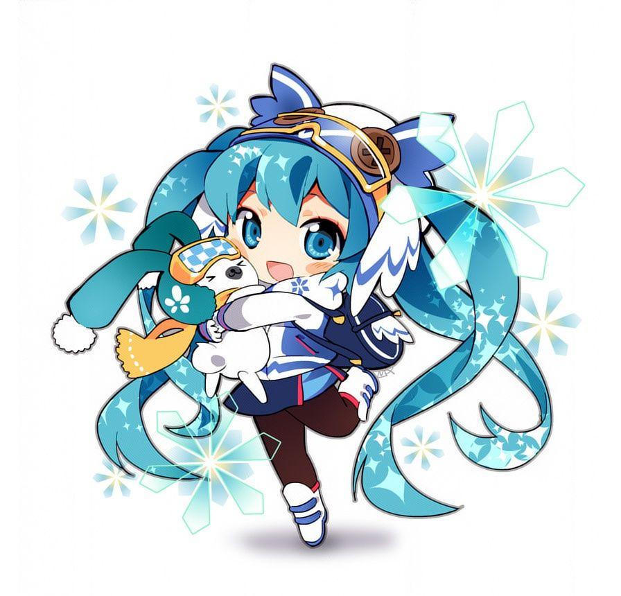 Chibi snow miku 2016 hatsune miku kawaii chibi - Cute anime miku ...