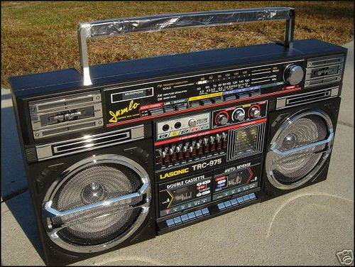 Image result for old school boombox