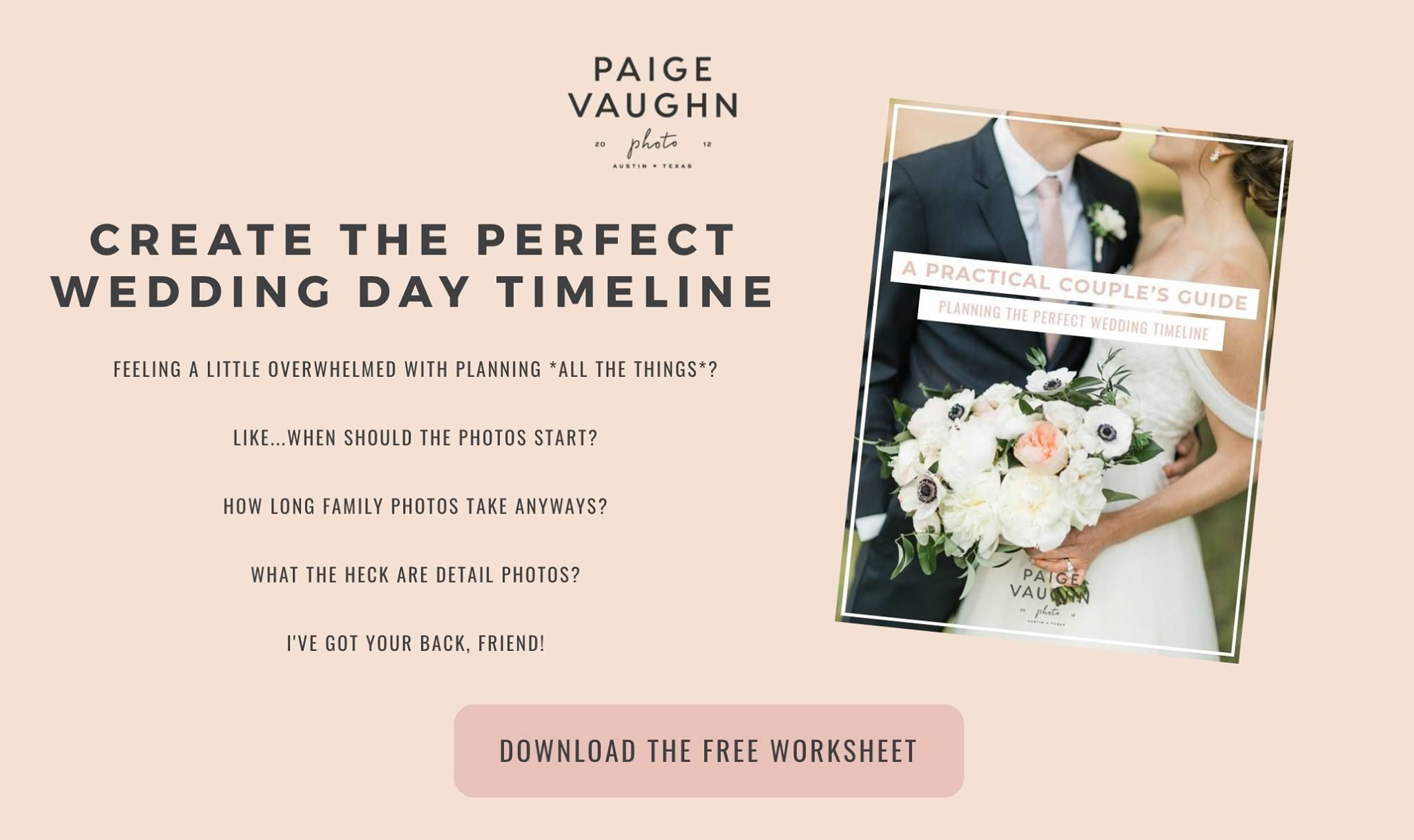 Free Worksheet Create The Perfect Wedding Day Timeline Wedding Day Timeline Wedding Advice Luxury Wedding Photography