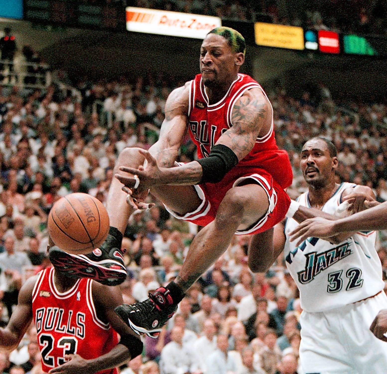 1998年總冠軍賽,喬丹場均33.5分+4籃板,那皮本和Rodman是什麼數據?-籃球圈