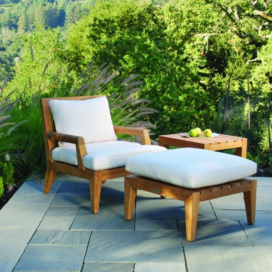 Kingsley Bate Mendocino Teak Deep Seating Lounge Chair ...