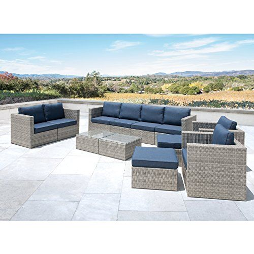 Supernova Outdoor Furniture 12 Pieces Garden Patio Sofa Set