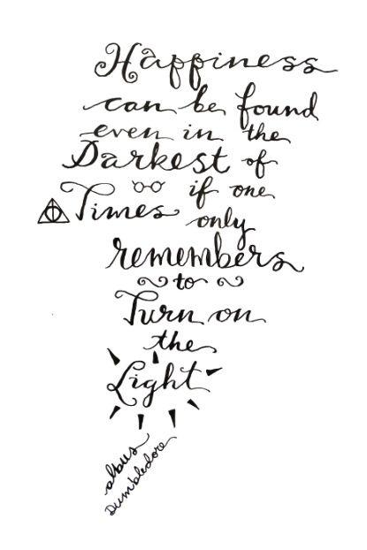 Happiness - Dumbledore  Art Print