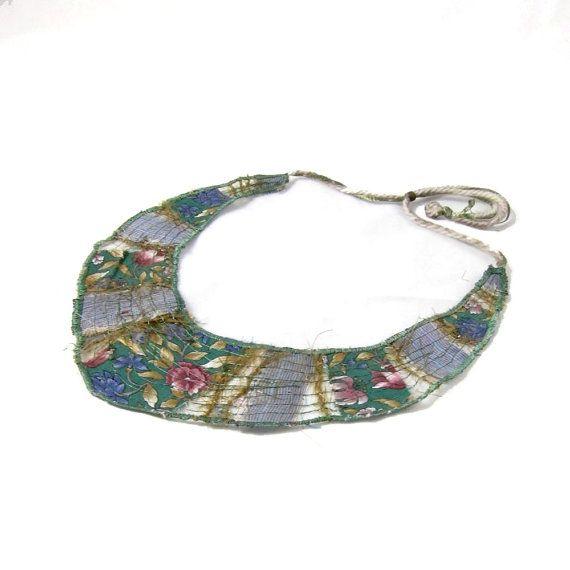 Bib Necklace Fabric Necklace Textile Necklace Collar by Fibernique, $30.00