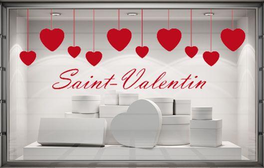 Sticker vitrine Saint-Valentin