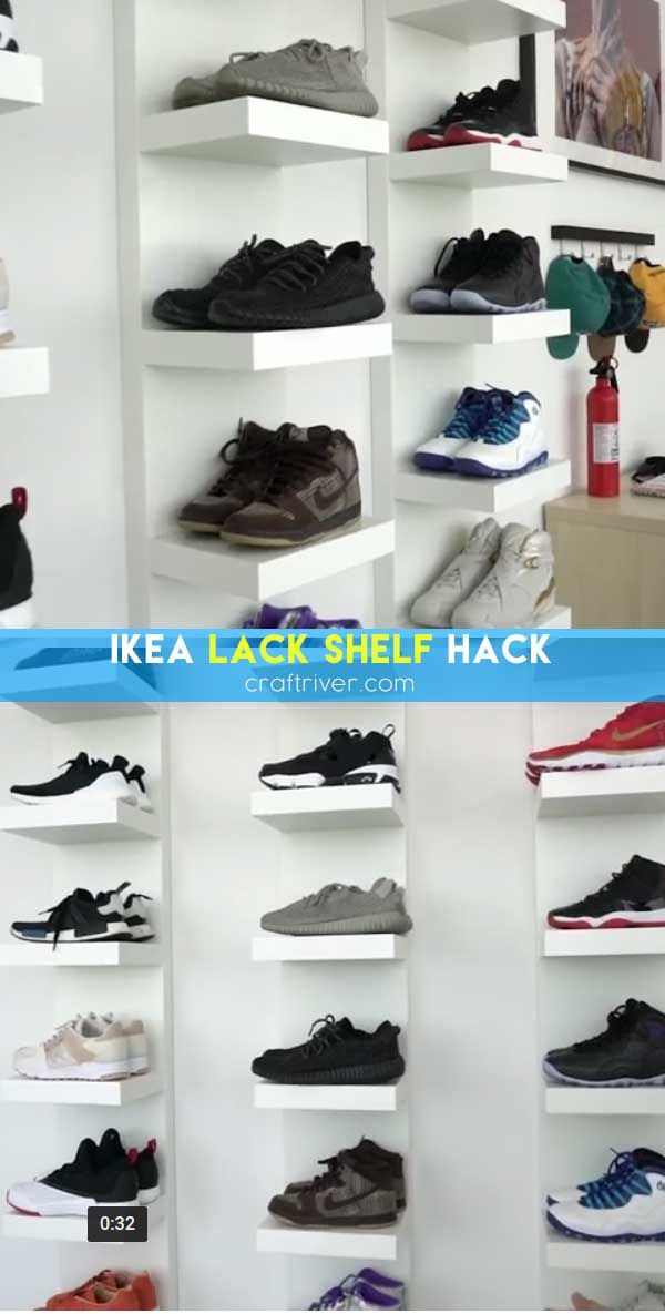 30+ Shoe Storage Ideas For Small Spaces | Diy Shoe Storage, Ikea Lack  Shelves And Lack Shelf
