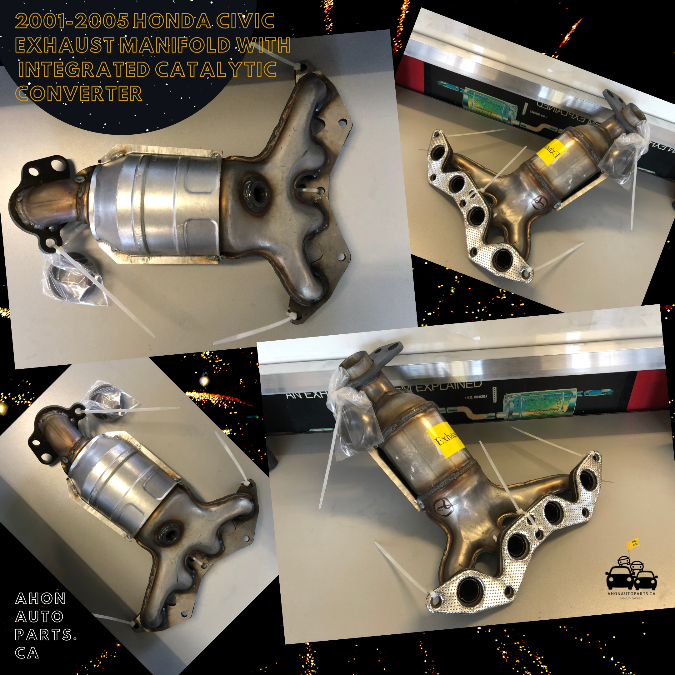 2001 2005 Honda Civic Exhaust Manifold With Integrated Catalytic Converter Honda Civic Civic Honda