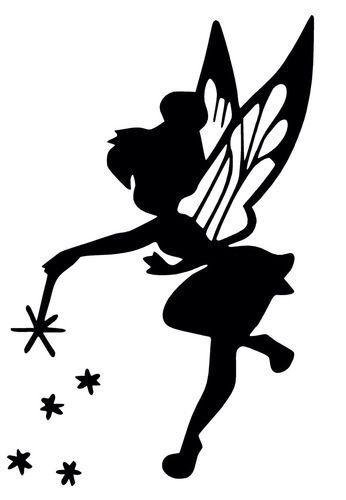 Tinkerbel silhouetjes pinterest clochette f e et - Pochoir mural fee ...