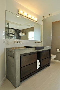 Waterfall Concrete Sink / Vanity   Los Angeles Contemporary Bathroom  Vanities And