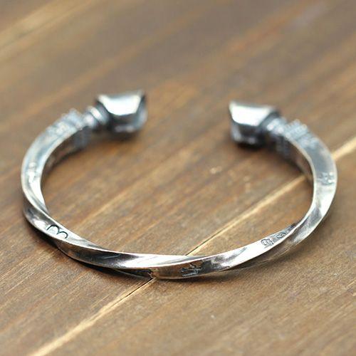 Men S Sterling Silver Horse Hoof Cuff Bracelet