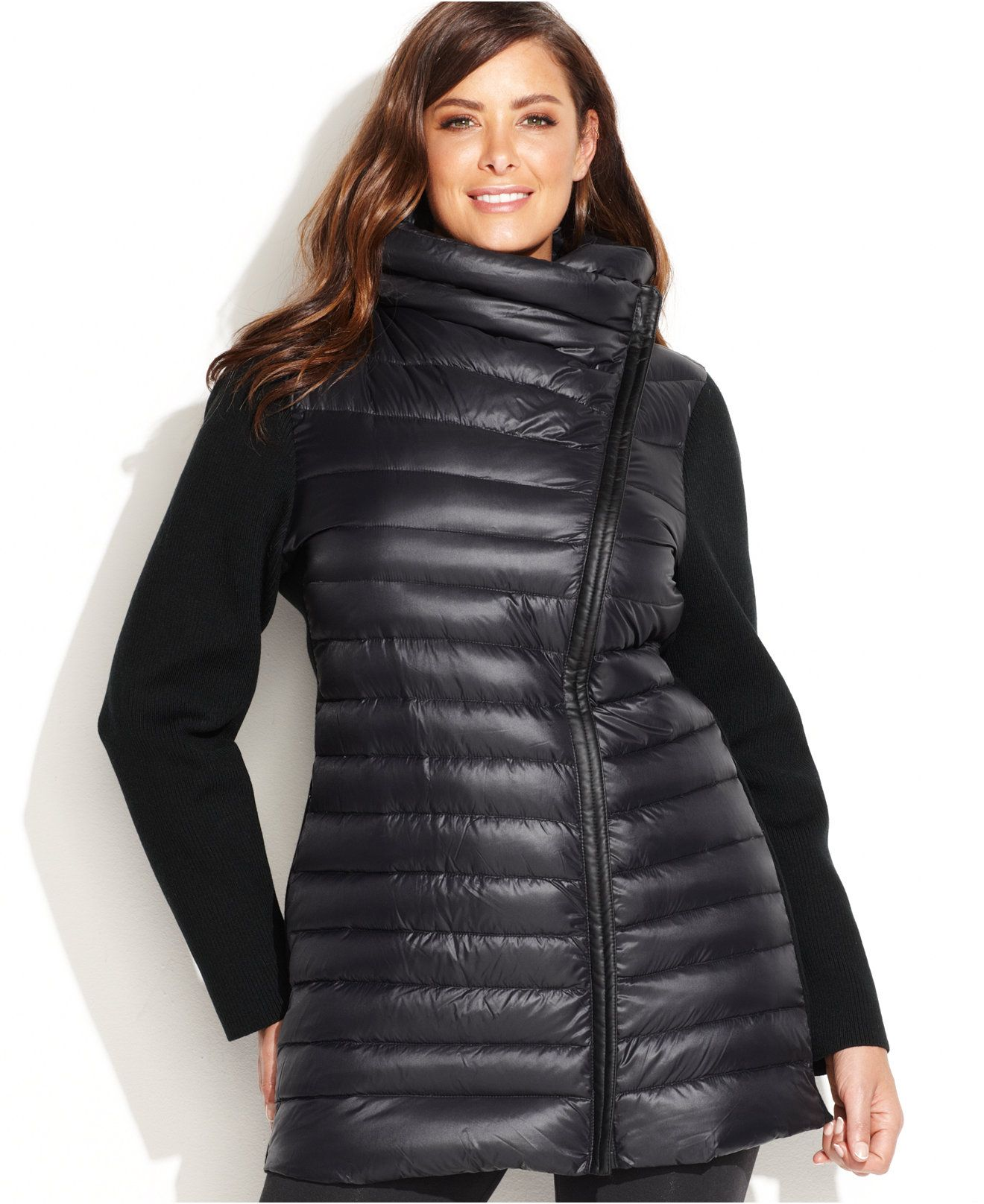fc872f2d76d Calvin Klein Performance Plus Size Asymmetrical Puffer Jacket - Activewear  - Plus Sizes - Macy s